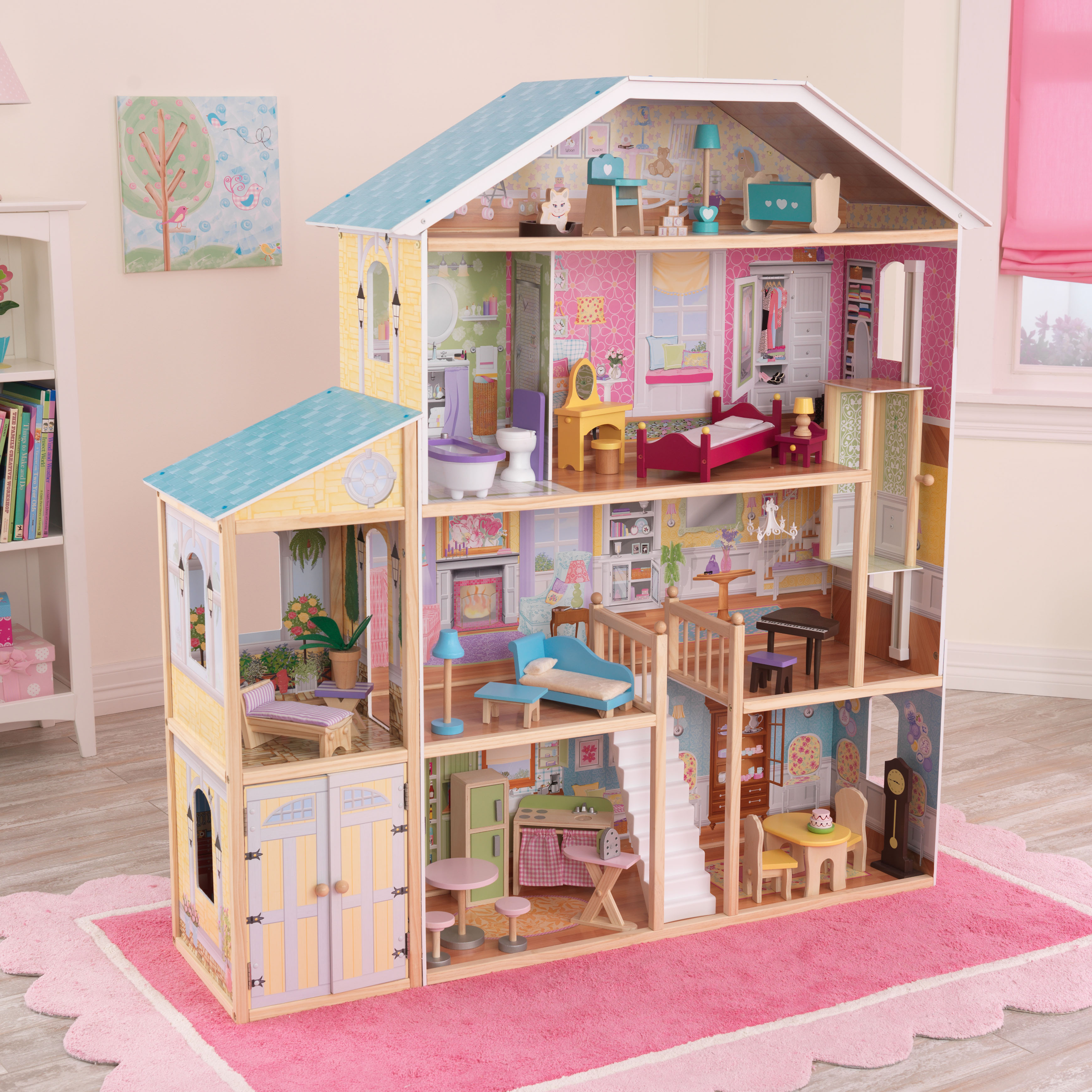 KidKraft Majestic Mansion Dollhouse with 34 Accessories Walmartcom