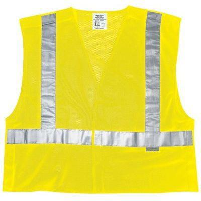 Luminator Class Ii Tear-Away Safety Vests, 3xl, Fluorescent Lime