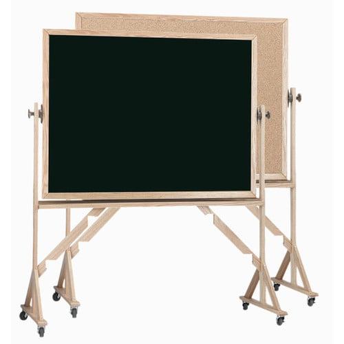 AARCO Reversible Free Standing Bulletin Board