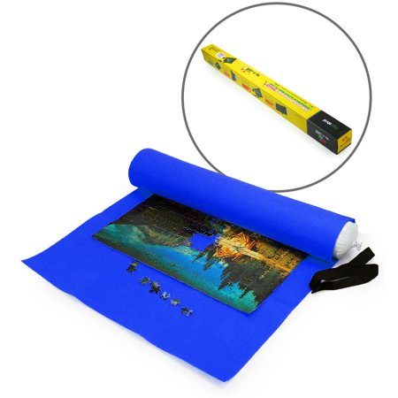 Lavievert Giant Blue Felt Puzzle Roll Mat For 3000 Piece Jigsaw
