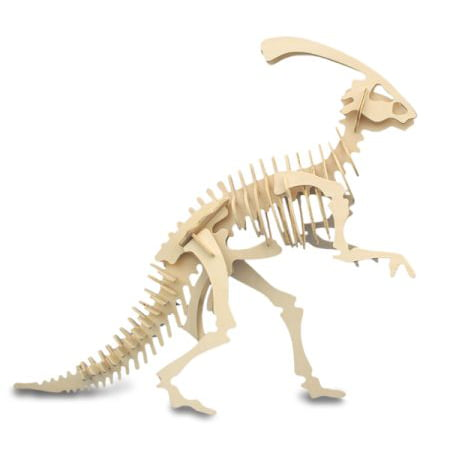 Parasaurolophus Wooden Dinosaur Skeleton Model - Dinasour Skeleton