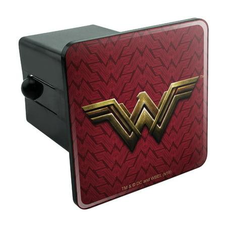 Justice League Movie Wonder Woman Logo Tow Trailer Hitch Cover Plug Insert Logo Hitch Plug
