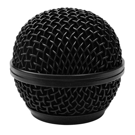 Shure Replacement - Seismic Audio Replacement Black Steel Mesh Microphone Grill Head - Fits Shure SM58 and Similar Black - SA-M30Grille-Black