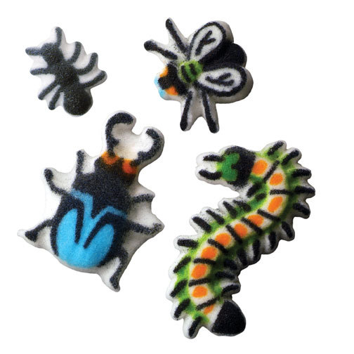 Bugs Sugar Decorations Toppers Cupcake Cake Cookies Birthday Favors Party 12 Count