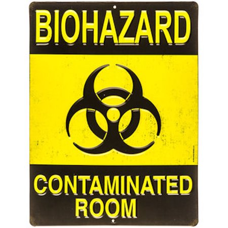 Biohazard Metal Sign Wall Art Home Decoration Theater Media Room Man Cave