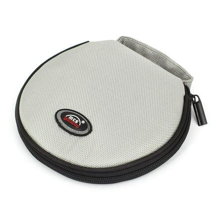 Round Shaped 20 Slots CD Discs Zipper Closure Holder Bag Wallet - Compact Zipper Wallet