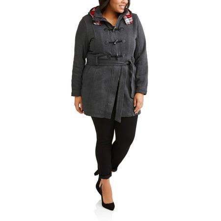 fdb96e3492d Yoki - Yoki Women s Plus Size Sherpa Lined Toggle Fleece Jacket With ...