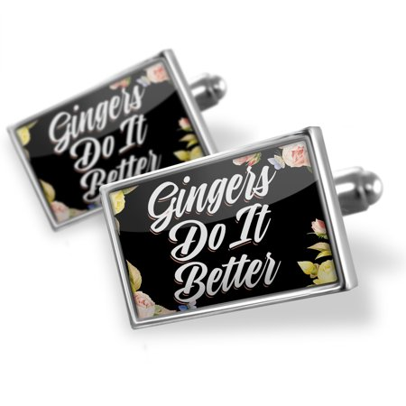 Cufflinks Floral Border Gingers Do It Better - NEONBLOND