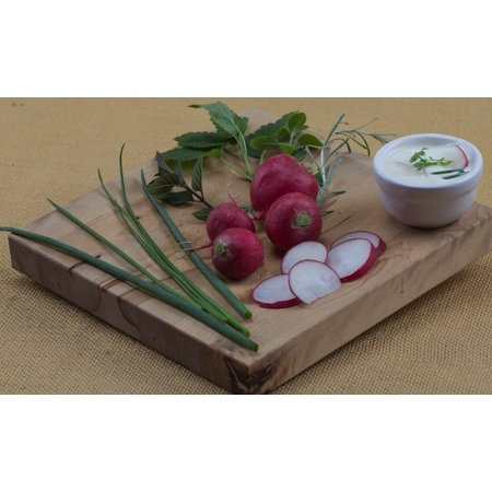 Canvas Print Eat Board Fruit Chives Radishes Stretched Canvas 10 x 14