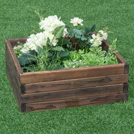 Costway Square Raised Garden Bed Flower Vegetables Seeds Planter Kit Elevated (Square Raised Breastplate)