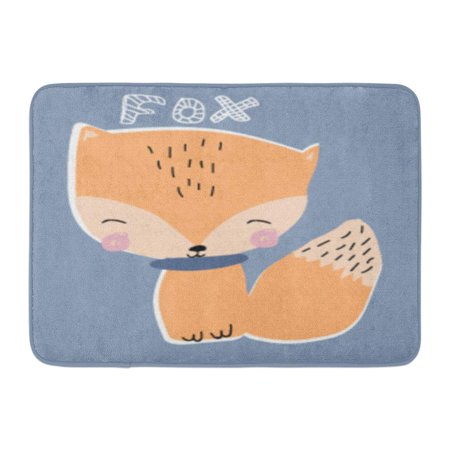 GODPOK White Baby Orange Woodland Cute Fox Red Animal Bear Rug Doormat Bath Mat 23.6x15.7 inch - Woodland Fox