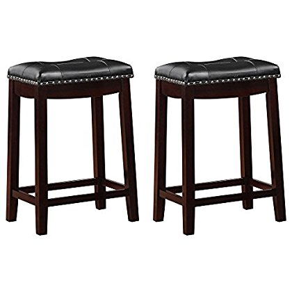 Angel Line Cambridge 24 Quot Padded Saddle Stool Espresso W