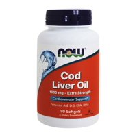 NOW Cod Liver Oil Extra Strength Softgels, 1000 Mg, 90 Ct