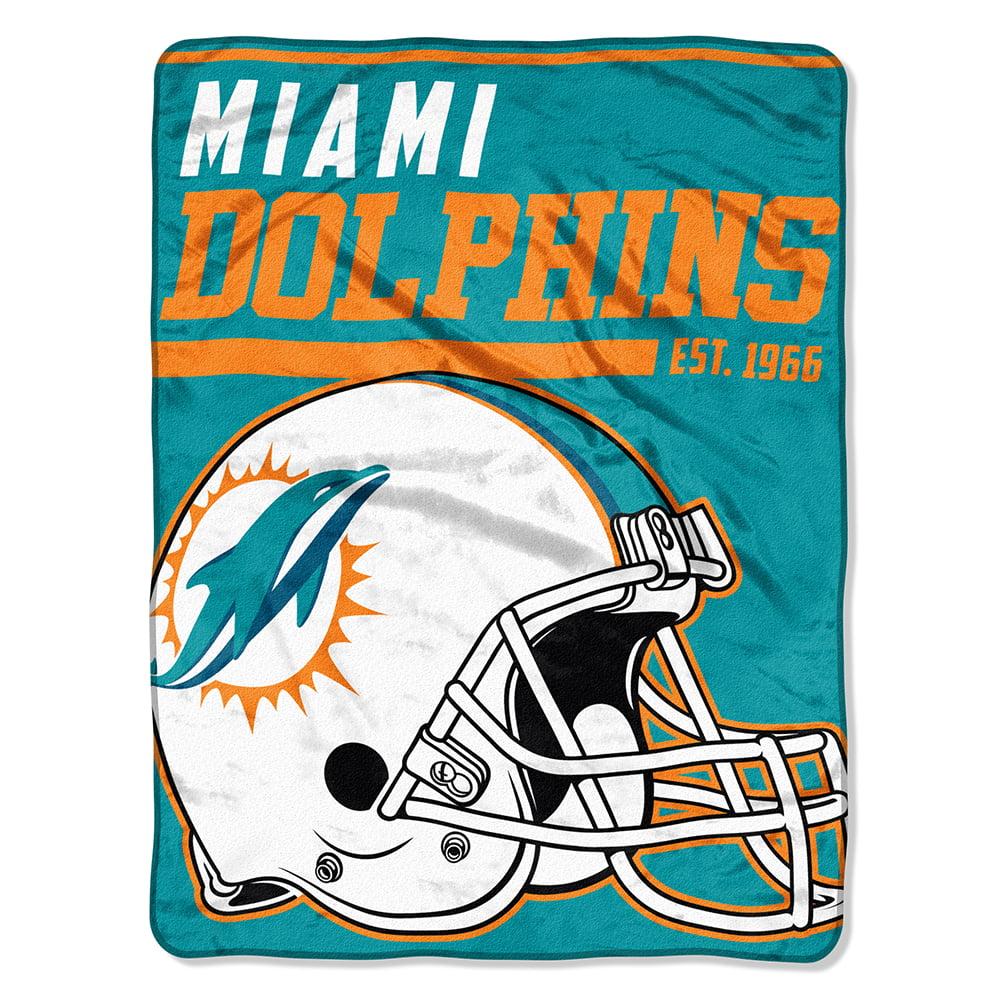 "NFL Miami Dolphins ""40-Yard Dash"" 46""x 60"" Micro Raschel Throw"
