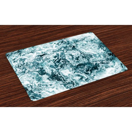 Marble Placemats Set Of 4 Abstract Rock Texture Modern