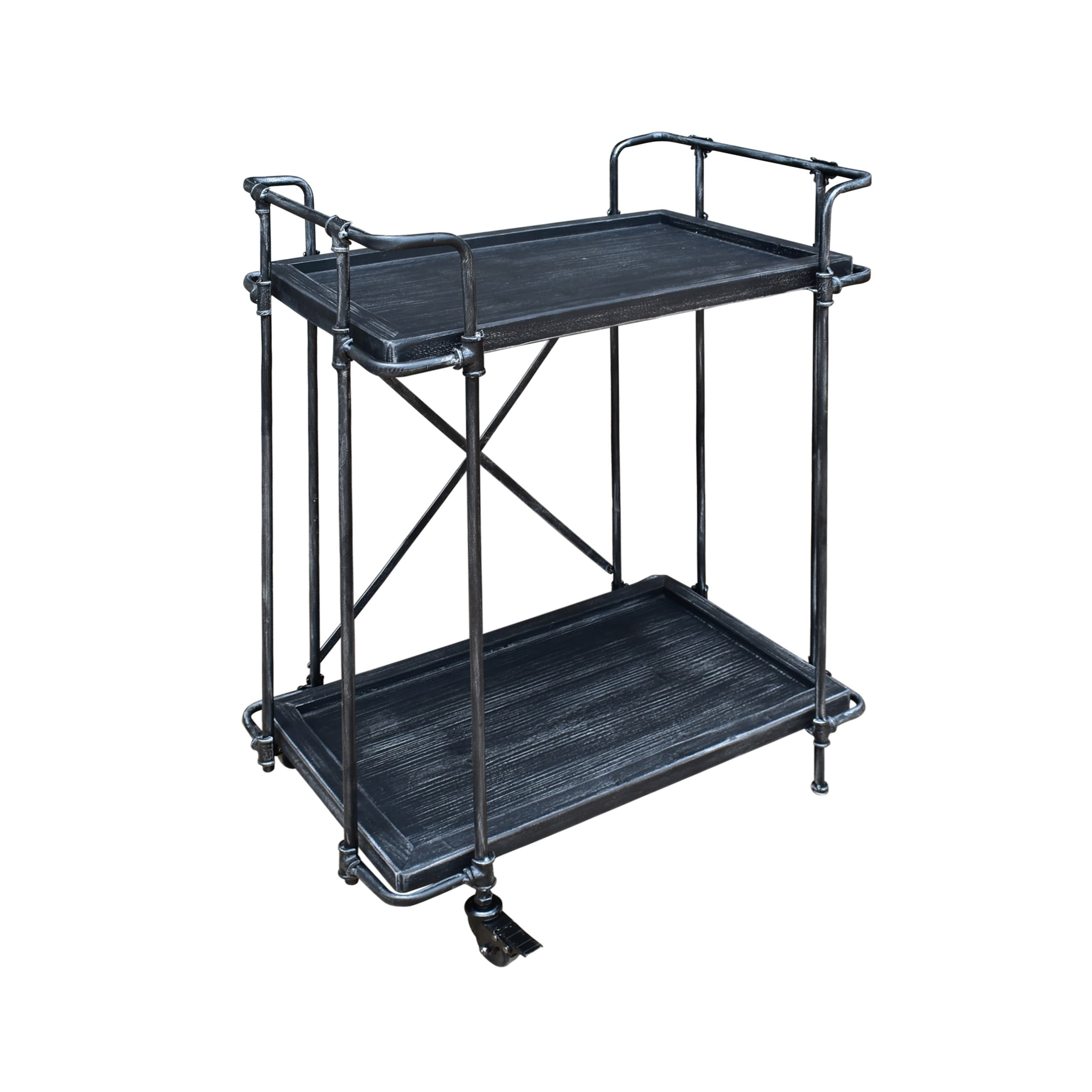 Christopher Knight Home Eden Outdoor Antique Firwood and Iron Bar Cart by