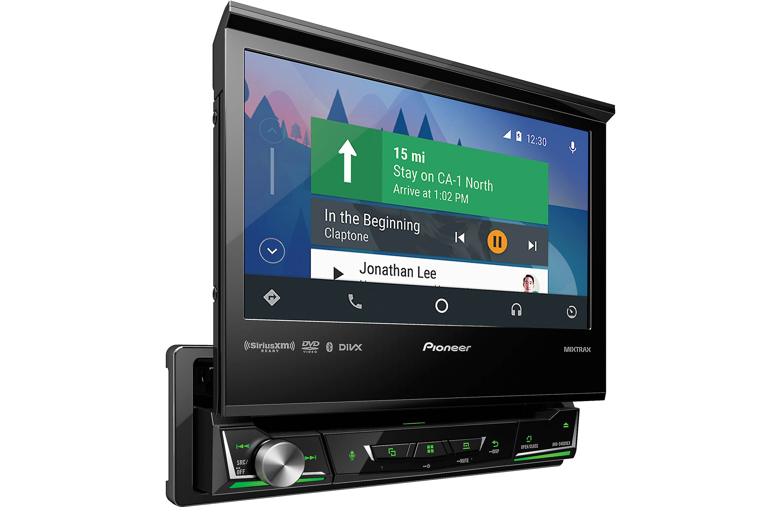 """Pioneer AVH-3400NEX 7"""" Motorized Single DIN Multimedia DVD Receiver with Built-in Bluetooth and AppRadio Mode+ and... by Pioneer"""