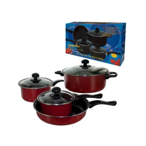 Bulk Buys OC647-4 Stainless Steel Cookware Set, 7 Piece