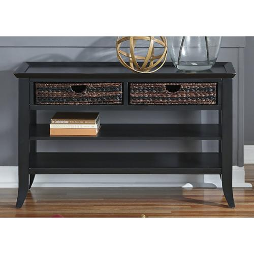 Liberty Furniture Industries Liberty Rubbed Black Sofa Table