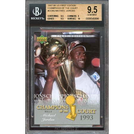 2007-08 ud first edition champions of the court #ccmj MICHAEL JORDAN BGS 9.5 10