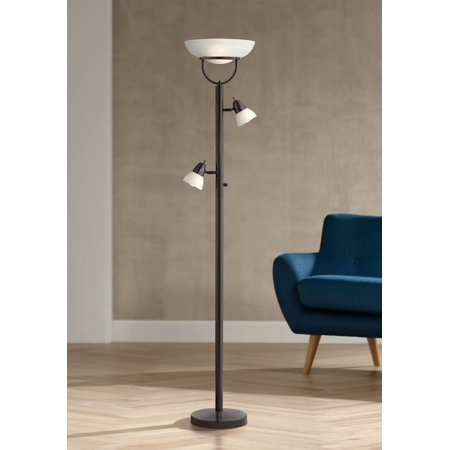 Peachy 360 Lighting Modern Torchiere Floor Lamp 3 In 1 Design Tiger Bronze White Glass Shades For Living Room Reading Bedroom Office Home Interior And Landscaping Pimpapssignezvosmurscom