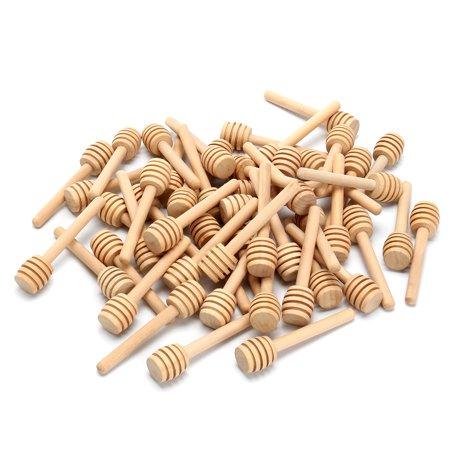 50Pcs Wooden Mini Jam Honey Dipper Jar Dispensing Collecting Stirring Rod Stick  - image 2 of 5