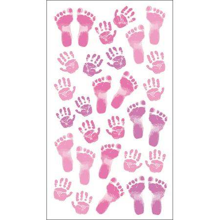 - Sticko Pastel Baby Girl Prints Stickers, 30 Piece
