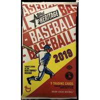 (1) 2019 Topps Heritage Baseball Cards Hobby Pack of 9 Cards