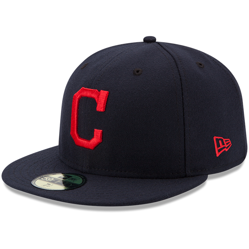 Cleveland Indians New Era Youth Authentic Collection On-Field Road 59FIFTY Fitted Hat - Navy