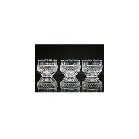 Empress Clear Crystal Votive Candle Holders with Candles Included, Set of 3