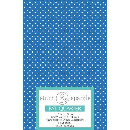 RTC Patriotic fabrics 100% Cotton, Blue Med Dot, 140 Gsm, Fat Quarter, 3 pieces bundle](Blue Fabric)
