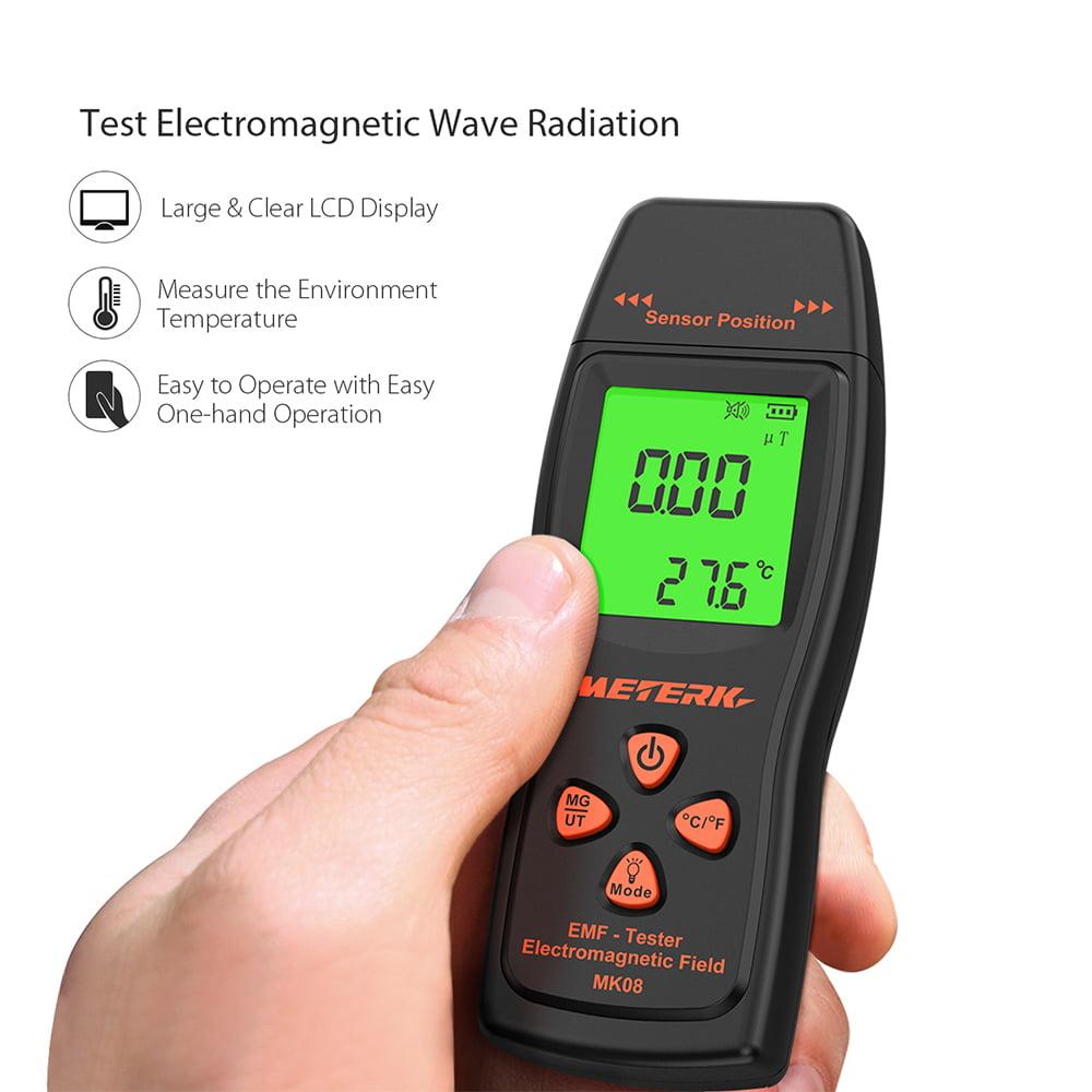 EMF Meter EMF Meter Handheld Mini Digital LCD EMF Tester Electromagnetic Field Radiation Detector Meter Dosimeter Tester Counter