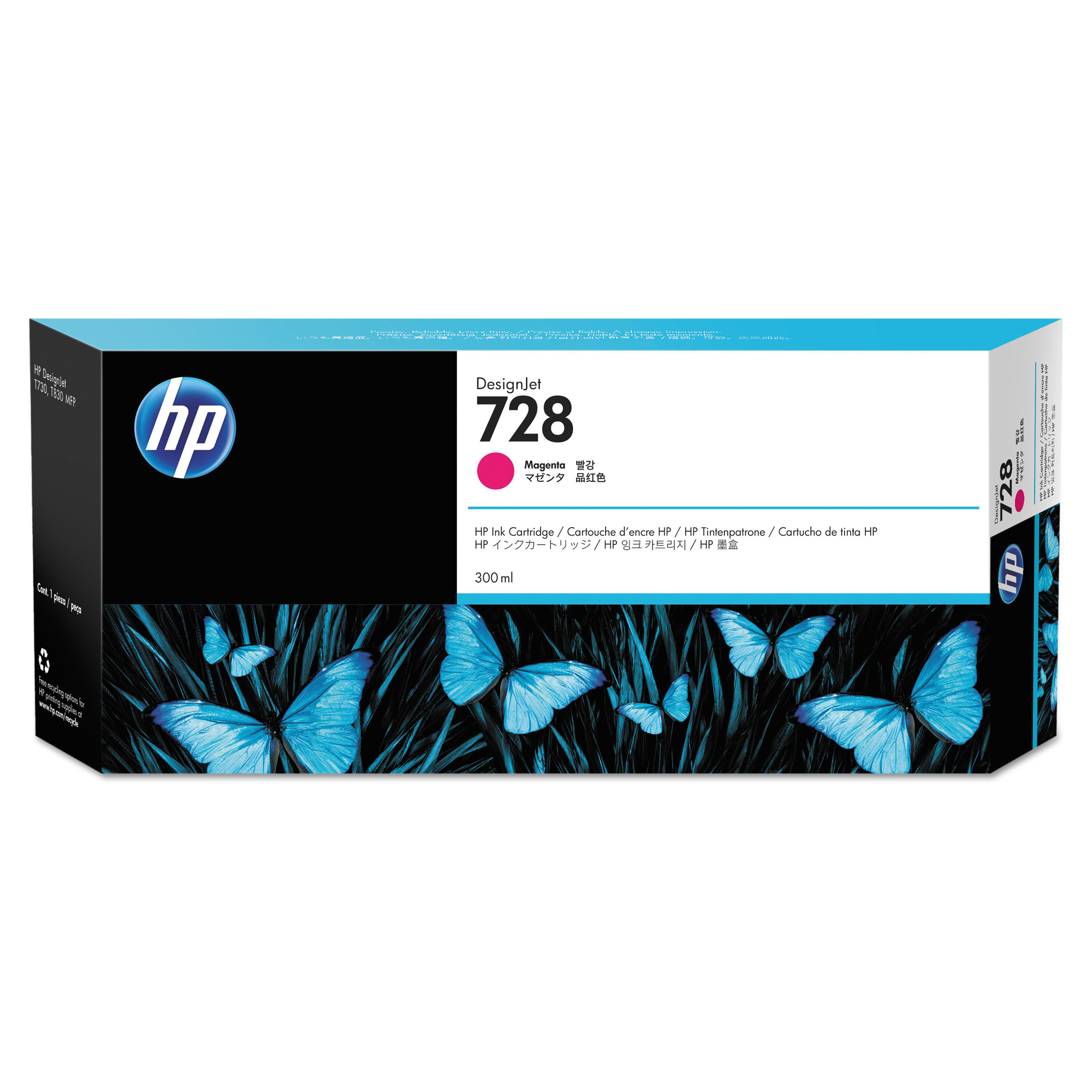 VC Remanufactured F9J68A Matte Back HP 728 Ink Cartridge Replacement for HP Designjet T730 MK