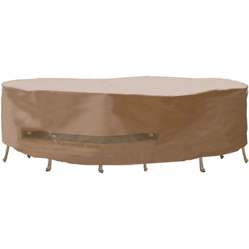 Captivating Sure Fit Oversize/XL Patio Set Cover, Taupe Part 24