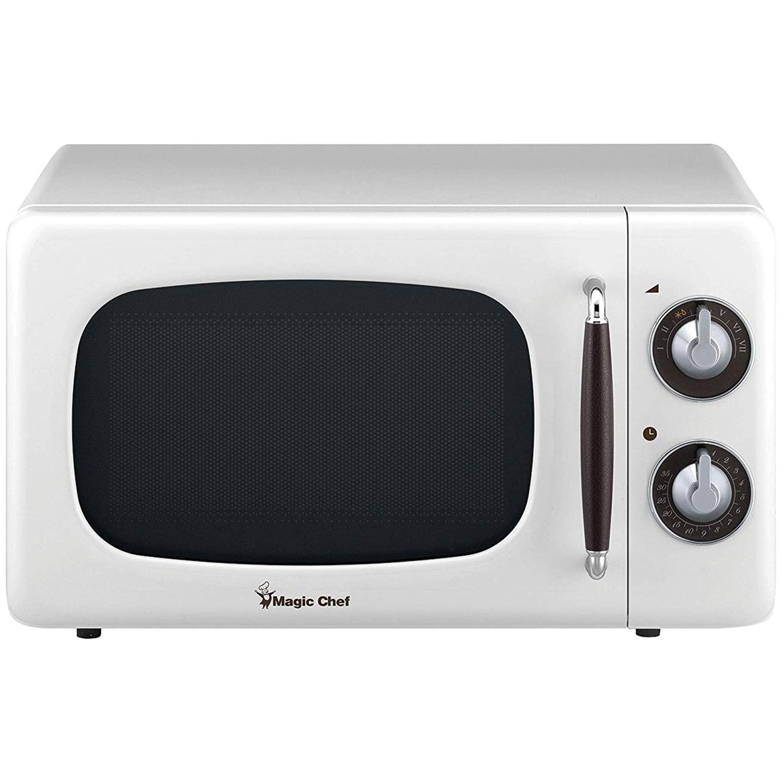 Magic Chef MCD770CW .7 Cubic -ft 700-Watt Retro Microwave (White)