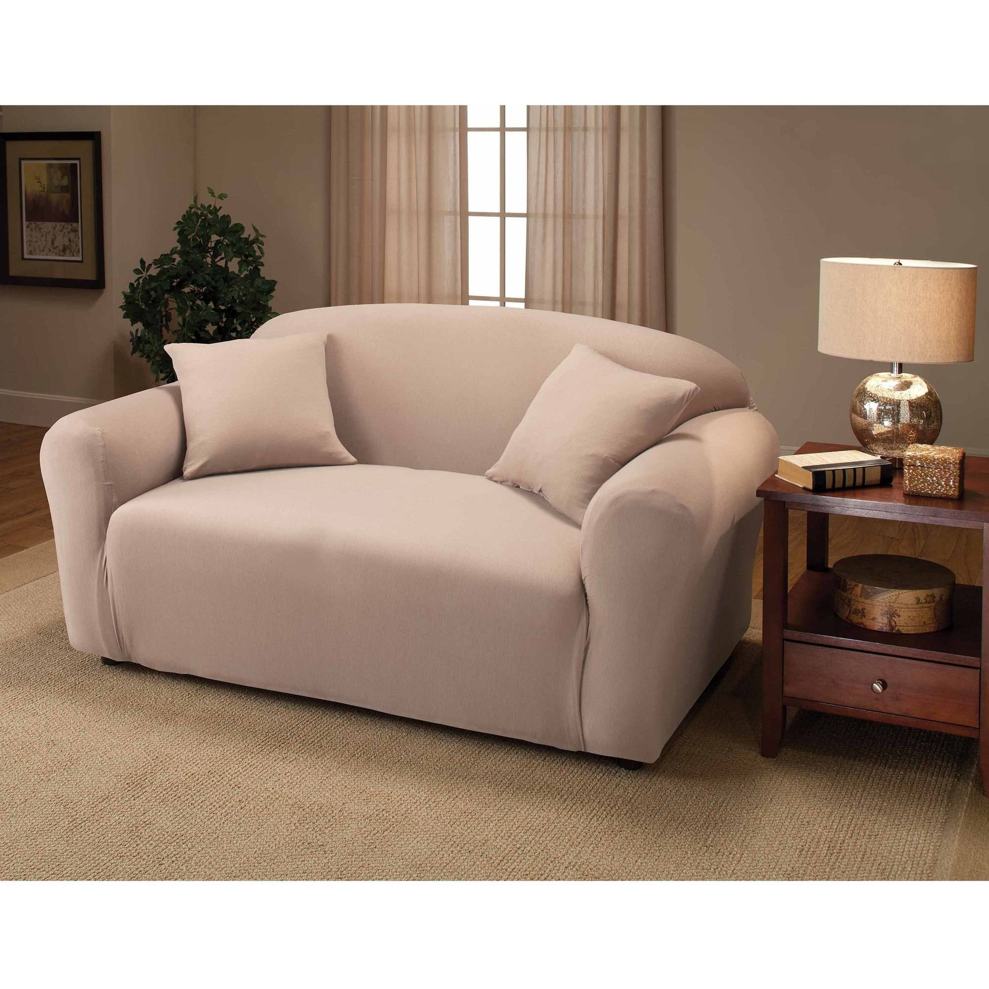 Jersey Stretch Loveseat Slipcover