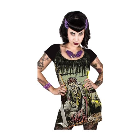 Women's Tales From The Crypt Gravebuster Tunic Dress Kreepsville Horror Fashion - 2X-Large - Dresses From Great Gatsby