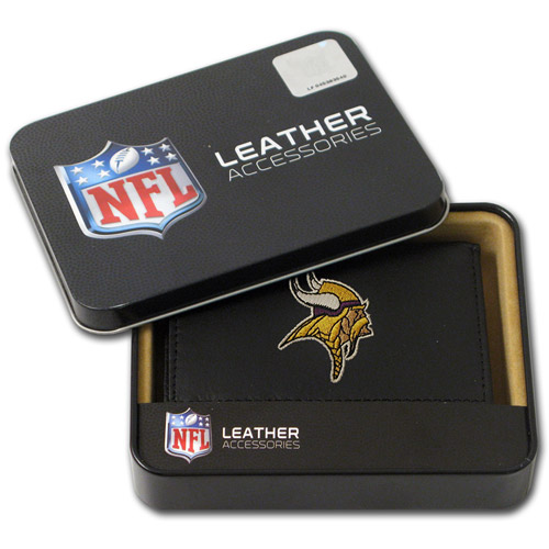 NFL - Men's Minnesota Vikings Embroidered Trifold Wallet