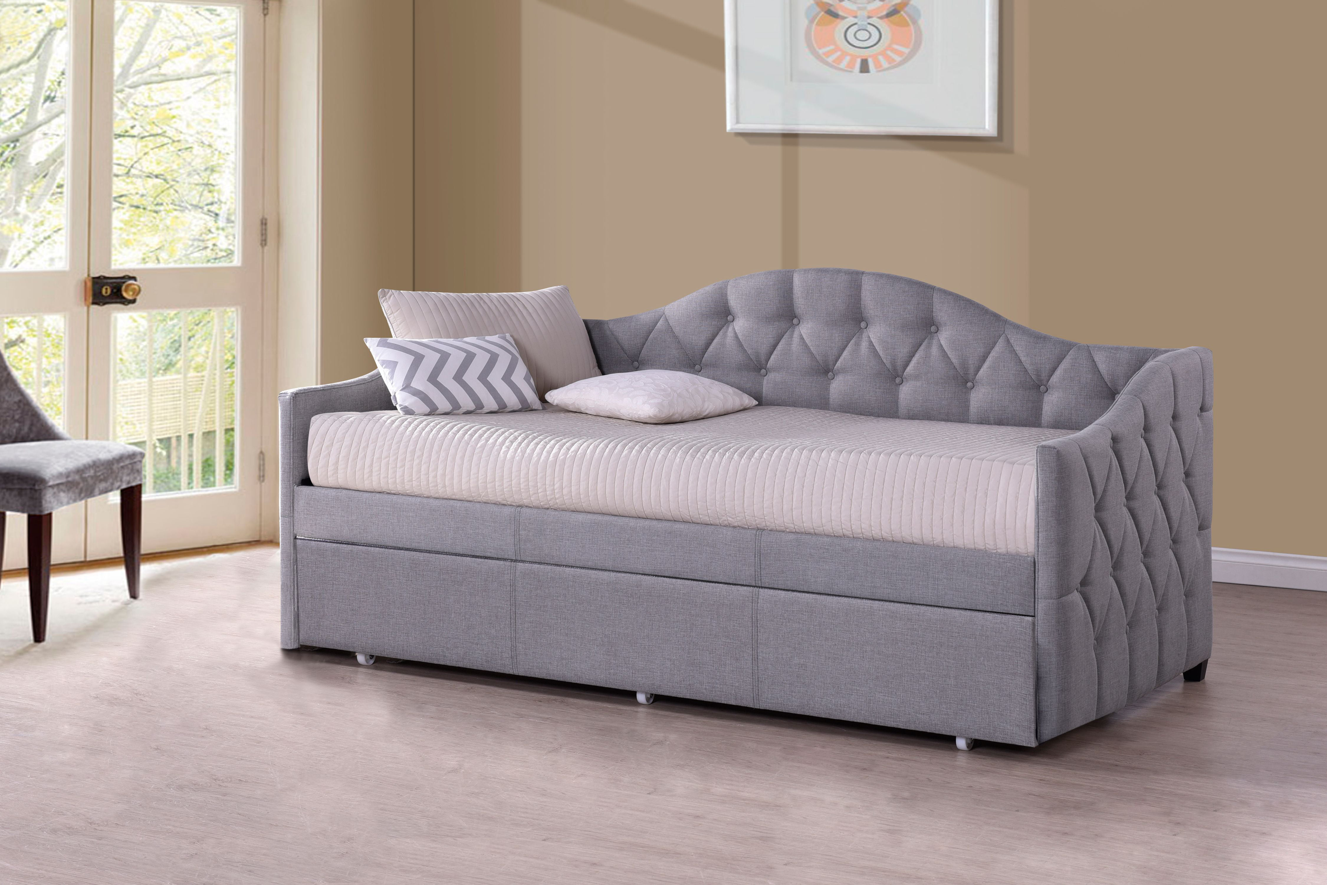 Hillsdale Furniture Jamie Daybed With Trundle, Gray   Walmart.com