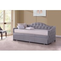 Hillsdale Furniture Jamie Tufted Upholstered Twin Daybed, Multiple Colors and Options