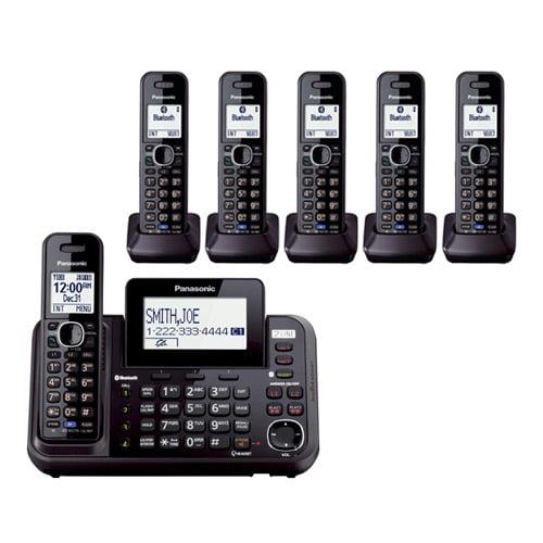 Panasonic KX-TG9546B DECT 6.0 Plus 2-Line Operation 3 Handset Cordless Phone Bluetooth LinkToCell