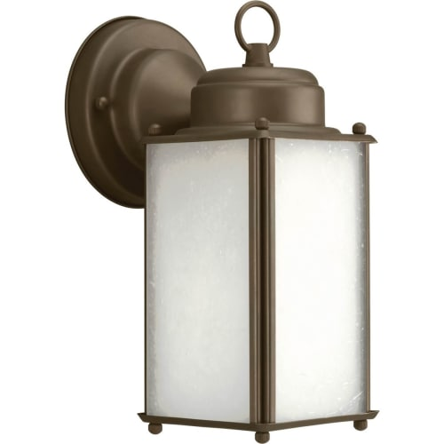 """Progress Lighting P5985-WB Roman Coach 1 Light 10"""" Tall Outdoor Wall Sconce with Etched Glass Panels"""