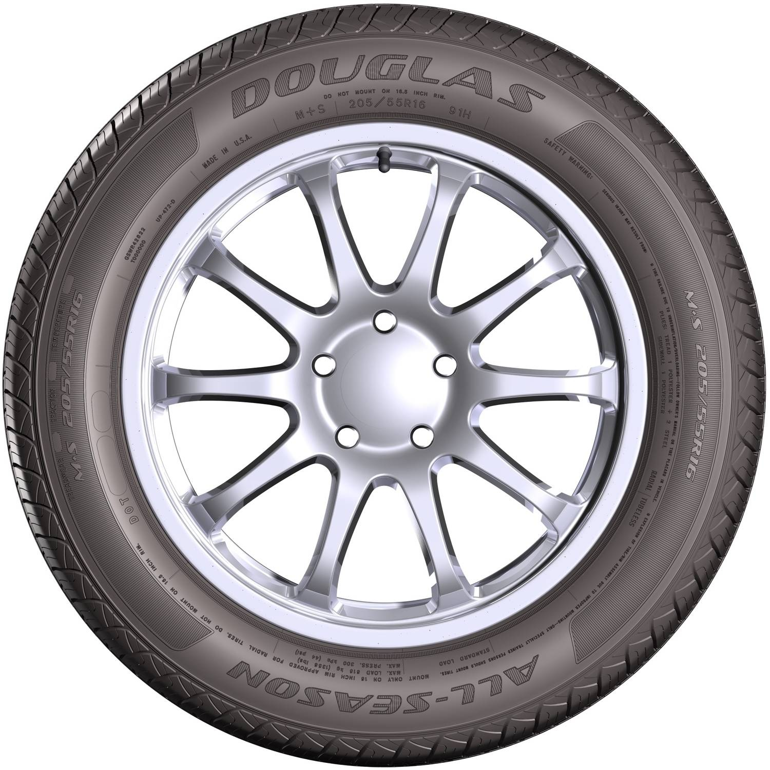 douglas all season tire 175 65r14 82s sl walmart com