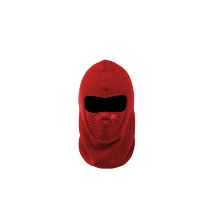 Best Unisex Ninja Style Polar Ski Mask - Red - Red Feather Mask