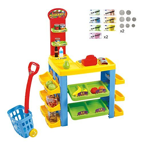 Playgo Battery Operated My Supermarket ; Trolley Set (76 ...