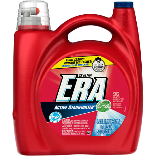 Era 2X Ultra HE Regular Liquid Detergent 96 Loads 150 Fl Oz