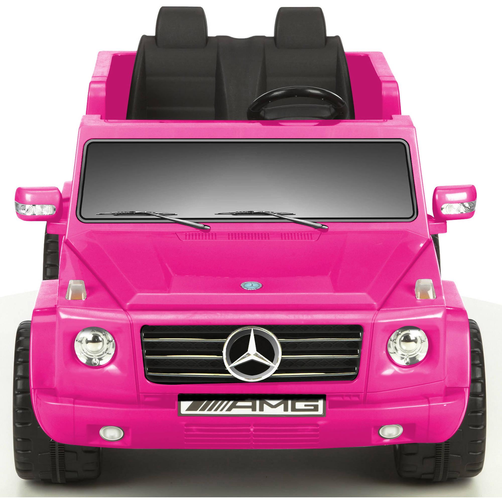 Kid Motorz 12v Mercedes Benz G55 Amg Two Seater Ride On Pink Walmart Com Walmart Com