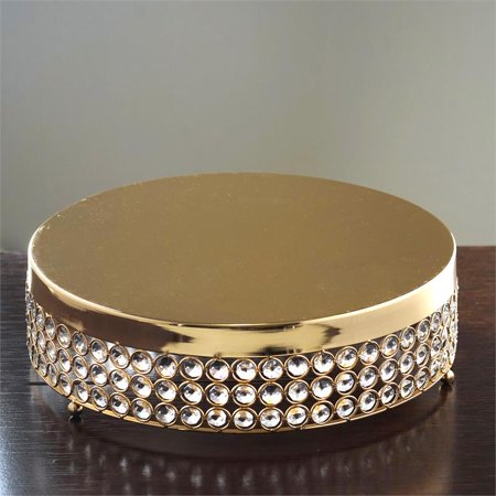 "BalsaCircle 13.5"" wide Metal Beaded Cake Stand - Cake Holder"