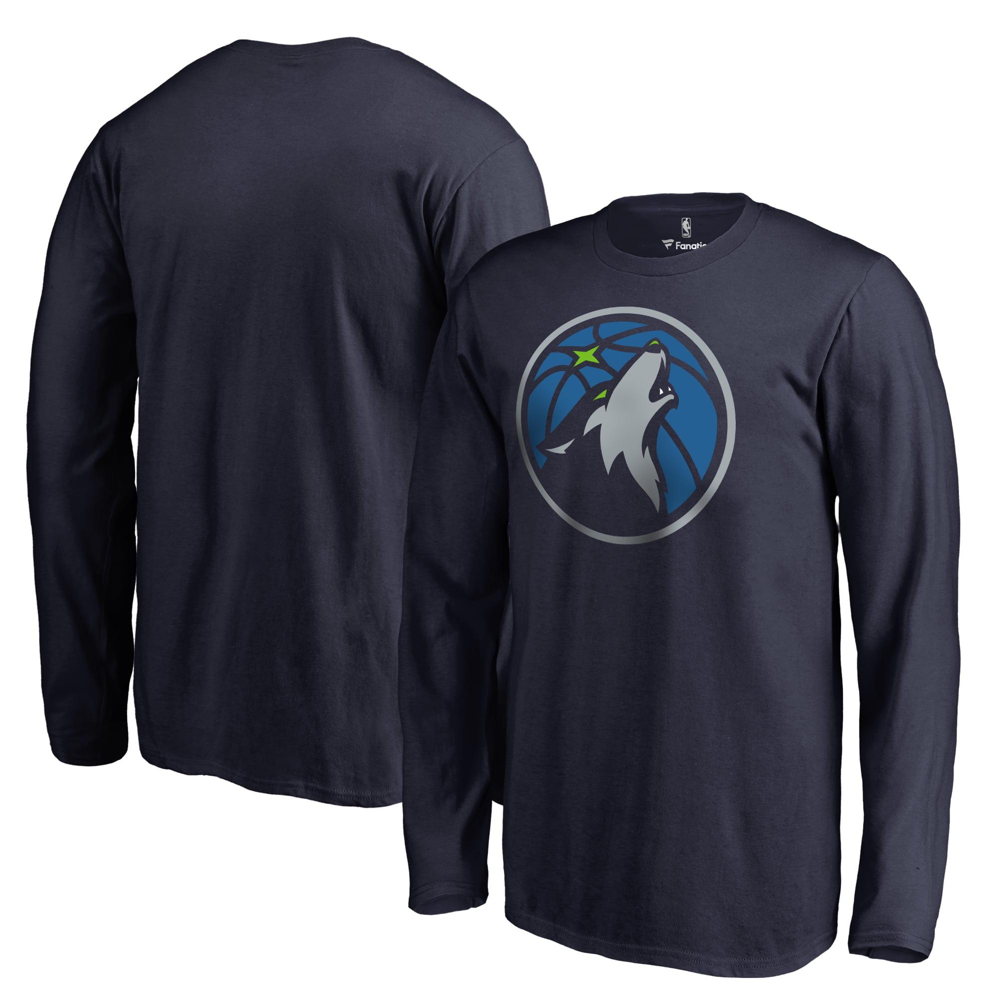 Minnesota Timberwolves Fanatics Branded Youth Primary Logo Long Sleeve T-Shirt - Navy