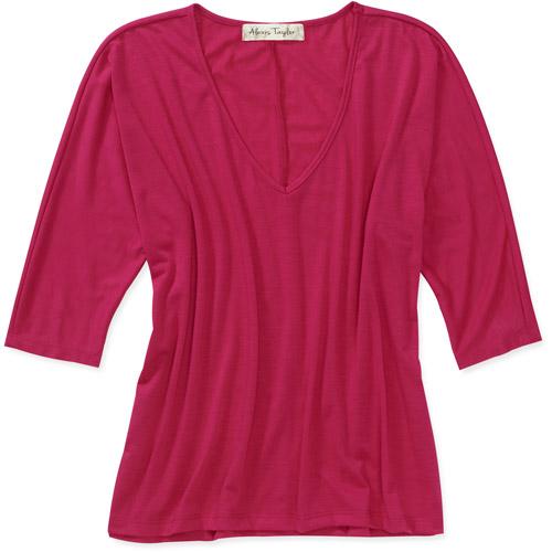 Alexis Taylor Women's Draped Knit Side Slit Top